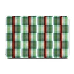 Fabric Textile Texture Green White Small Doormat
