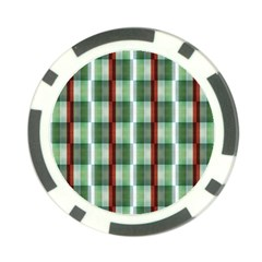 Fabric Textile Texture Green White Poker Chip Card Guard (10 Pack)