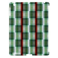Fabric Textile Texture Green White Apple Ipad 3/4 Hardshell Case (compatible With Smart Cover)