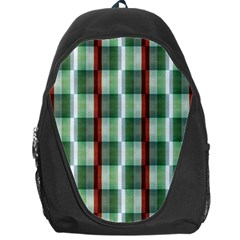 Fabric Textile Texture Green White Backpack Bag