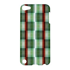 Fabric Textile Texture Green White Apple Ipod Touch 5 Hardshell Case
