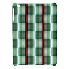 Fabric Textile Texture Green White Apple Ipad Mini Hardshell Case
