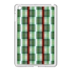 Fabric Textile Texture Green White Apple Ipad Mini Case (white)