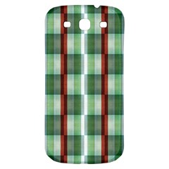 Fabric Textile Texture Green White Samsung Galaxy S3 S Iii Classic Hardshell Back Case