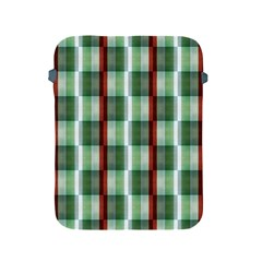 Fabric Textile Texture Green White Apple Ipad 2/3/4 Protective Soft Cases