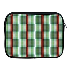 Fabric Textile Texture Green White Apple Ipad 2/3/4 Zipper Cases