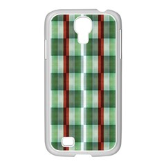 Fabric Textile Texture Green White Samsung Galaxy S4 I9500/ I9505 Case (white)