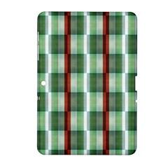 Fabric Textile Texture Green White Samsung Galaxy Tab 2 (10 1 ) P5100 Hardshell Case
