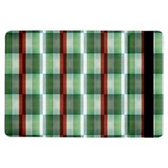 Fabric Textile Texture Green White Ipad Air Flip