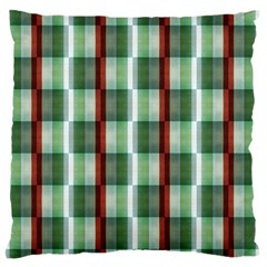 Fabric Textile Texture Green White Large Flano Cushion Case (two Sides) by Nexatart