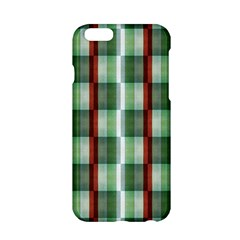 Fabric Textile Texture Green White Apple Iphone 6/6s Hardshell Case