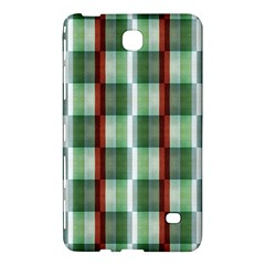 Fabric Textile Texture Green White Samsung Galaxy Tab 4 (7 ) Hardshell Case