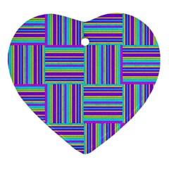 Geometric Textile Texture Surface Ornament (heart)