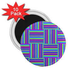 Geometric Textile Texture Surface 2 25  Magnets (10 Pack)