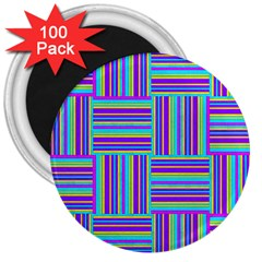 Geometric Textile Texture Surface 3  Magnets (100 Pack)