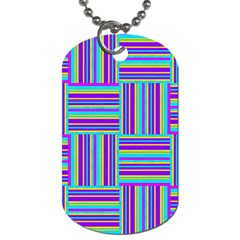 Geometric Textile Texture Surface Dog Tag (one Side)