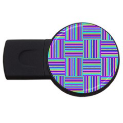 Geometric Textile Texture Surface Usb Flash Drive Round (4 Gb) by Nexatart