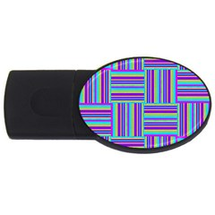 Geometric Textile Texture Surface Usb Flash Drive Oval (4 Gb)
