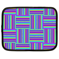 Geometric Textile Texture Surface Netbook Case (xxl)