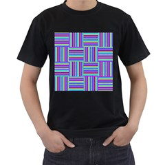 Geometric Textile Texture Surface Men s T Shirt (black)