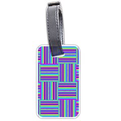 Geometric Textile Texture Surface Luggage Tags (one Side)