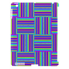 Geometric Textile Texture Surface Apple Ipad 3/4 Hardshell Case (compatible With Smart Cover)