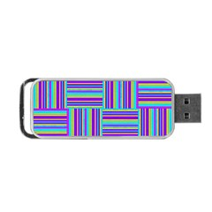 Geometric Textile Texture Surface Portable Usb Flash (two Sides)