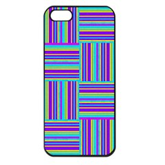 Geometric Textile Texture Surface Apple Iphone 5 Seamless Case (black)