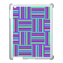 Geometric Textile Texture Surface Apple Ipad 3/4 Case (white)