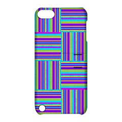 Geometric Textile Texture Surface Apple Ipod Touch 5 Hardshell Case With Stand