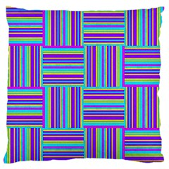 Geometric Textile Texture Surface Standard Flano Cushion Case (two Sides)