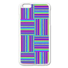 Geometric Textile Texture Surface Apple Iphone 6 Plus/6s Plus Enamel White Case