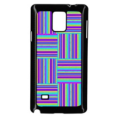 Geometric Textile Texture Surface Samsung Galaxy Note 4 Case (black)