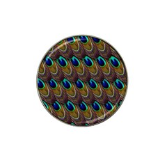 Peacock Feathers Bird Plumage Hat Clip Ball Marker