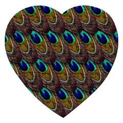 Peacock Feathers Bird Plumage Jigsaw Puzzle (heart)