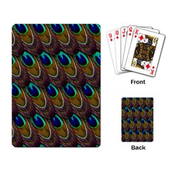 Peacock Feathers Bird Plumage Playing Card