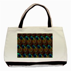 Peacock Feathers Bird Plumage Basic Tote Bag (two Sides)