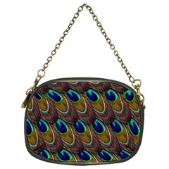 Peacock Feathers Bird Plumage Chain Purses (one Side)