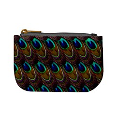Peacock Feathers Bird Plumage Mini Coin Purses