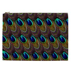 Peacock Feathers Bird Plumage Cosmetic Bag (xxl)