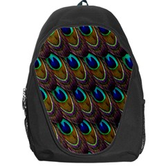 Peacock Feathers Bird Plumage Backpack Bag