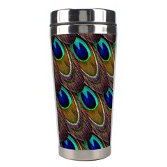 Peacock Feathers Bird Plumage Stainless Steel Travel Tumblers