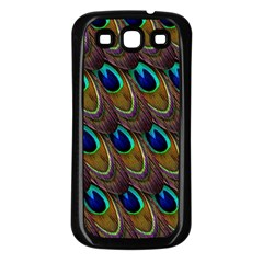 Peacock Feathers Bird Plumage Samsung Galaxy S3 Back Case (black)
