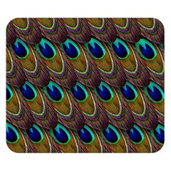 Peacock Feathers Bird Plumage Double Sided Flano Blanket (small)