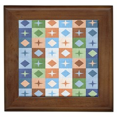 Fabric Textile Textures Cubes Framed Tiles