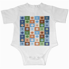 Fabric Textile Textures Cubes Infant Creepers