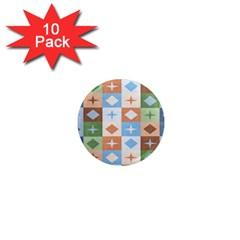 Fabric Textile Textures Cubes 1  Mini Magnet (10 Pack)
