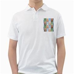 Fabric Textile Textures Cubes Golf Shirts