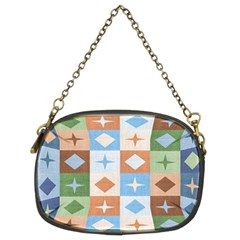 Fabric Textile Textures Cubes Chain Purses (two Sides)