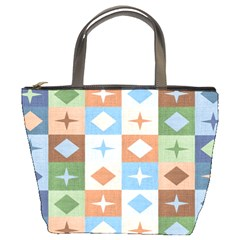 Fabric Textile Textures Cubes Bucket Bags